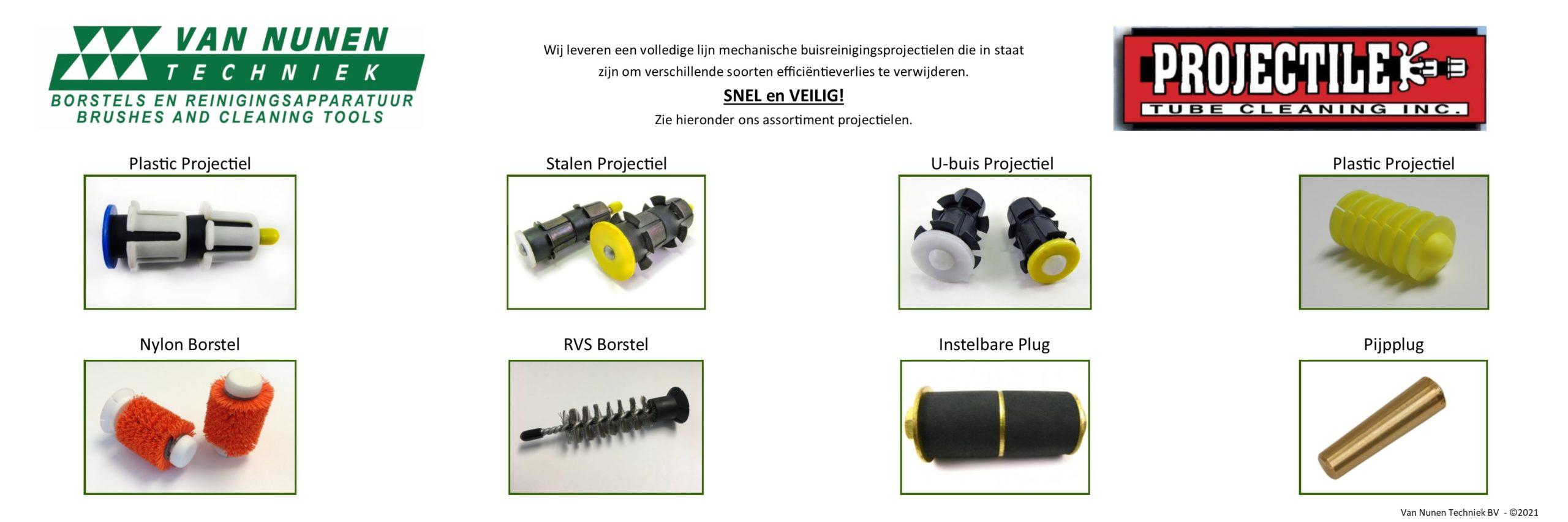 Assortiment Projectielen - Van Nunen Techniek BV